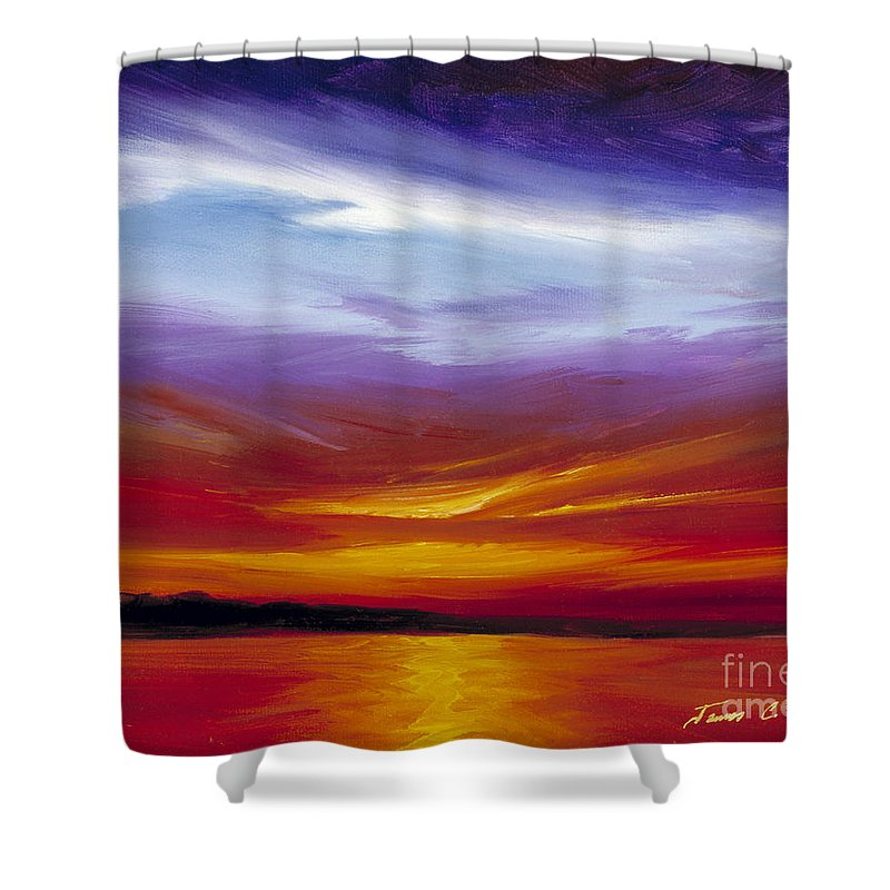Skyscape Shower Curtain featuring the painting Sarasota Bay I by James Christopher Hill