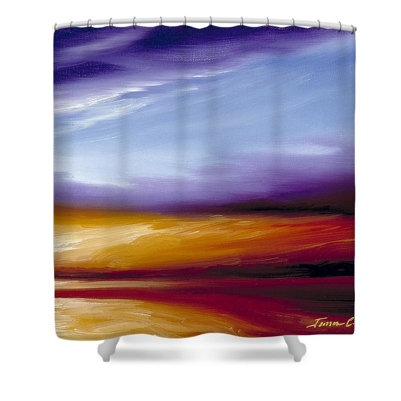 Skyscape Shower Curtain featuring the painting Sarasota Bay II by James Christopher Hill
