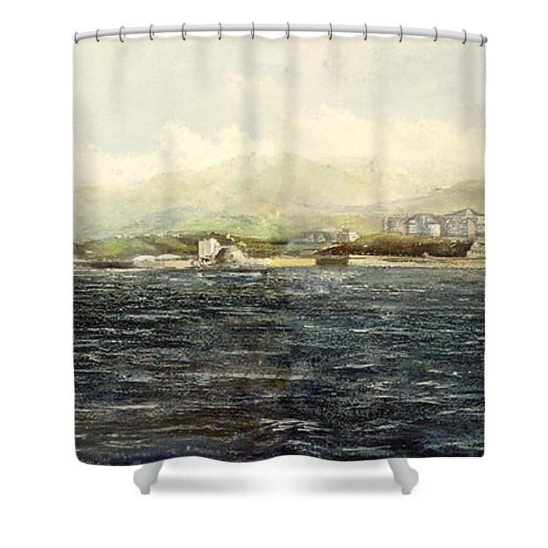Sardinero Shower Curtain featuring the painting Sardinero y Magdalena by Tomas Castano
