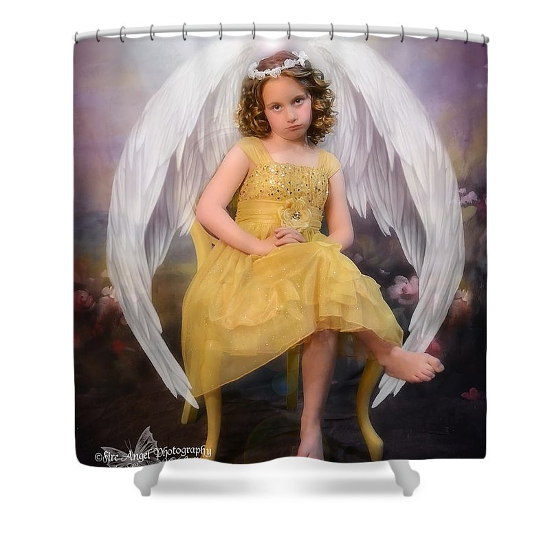 Angel Shower Curtain Featuring The Photograph Sassy By Sussan Bell