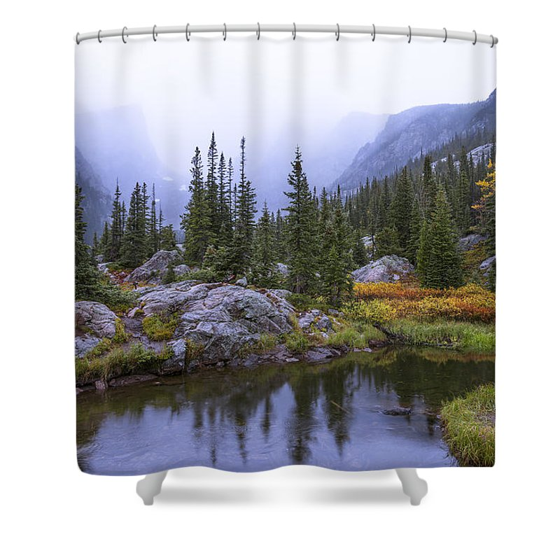 Rocky Mountains Photographs Shower Curtains