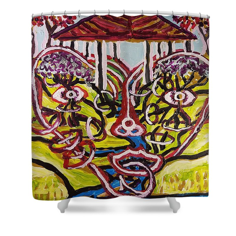 Love Shower Curtain featuring the painting Saturday Afternoon Delight by Timothy Michael Foley