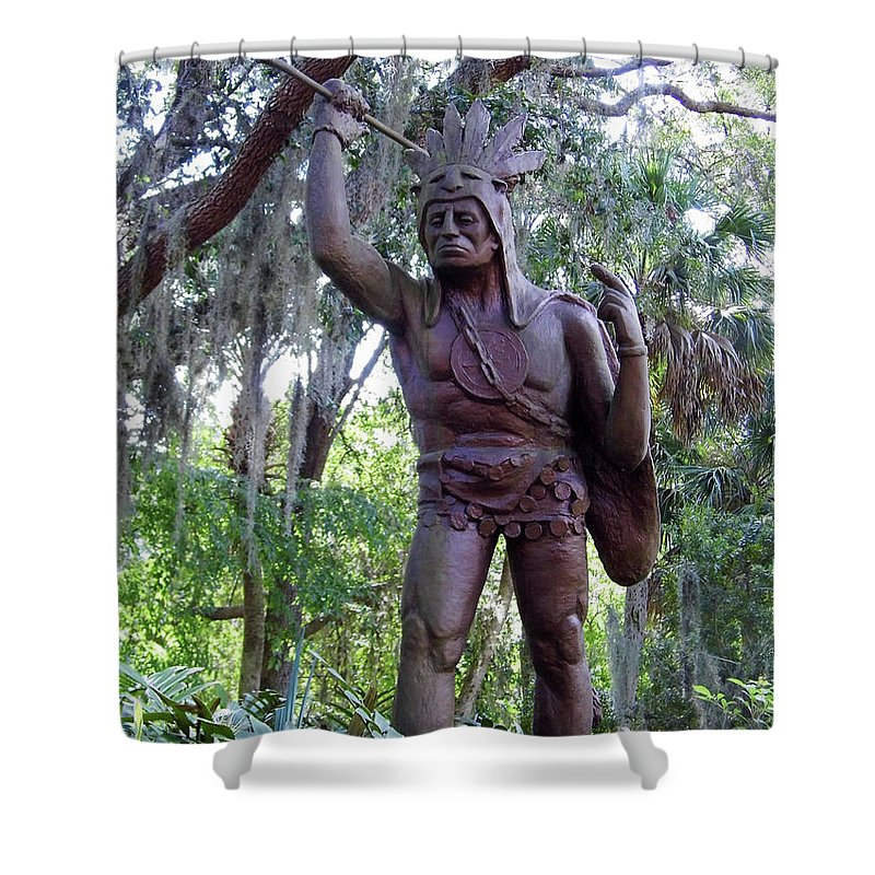 St Augustine Shower Curtain featuring the photograph Saturiwa by D Hackett