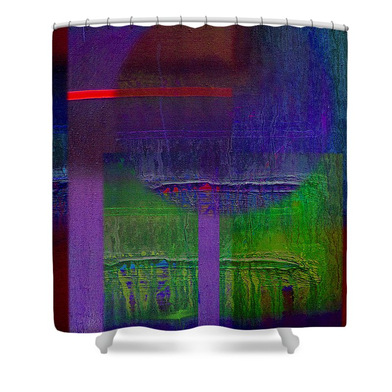 Landscape Shower Curtain featuring the painting Saturn by Charles Stuart