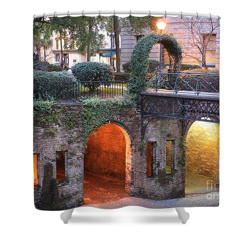 Savannah Shower Curtain featuring the photograph Savannah Lights by Carol Groenen