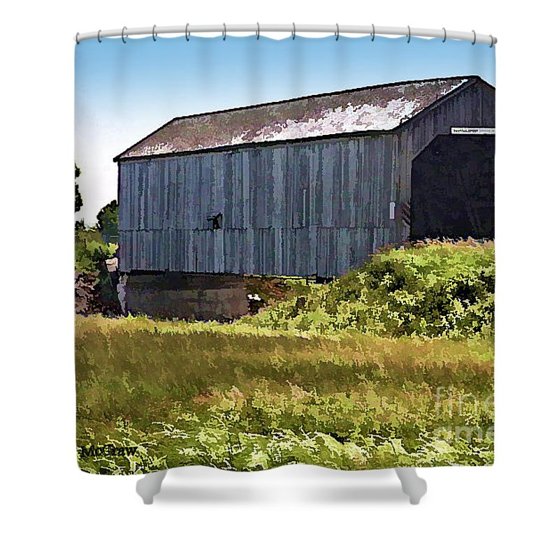 Covered Bridges Shower Curtain featuring the photograph Sawmill Creek Covered Bridge by Patricia L Davidson