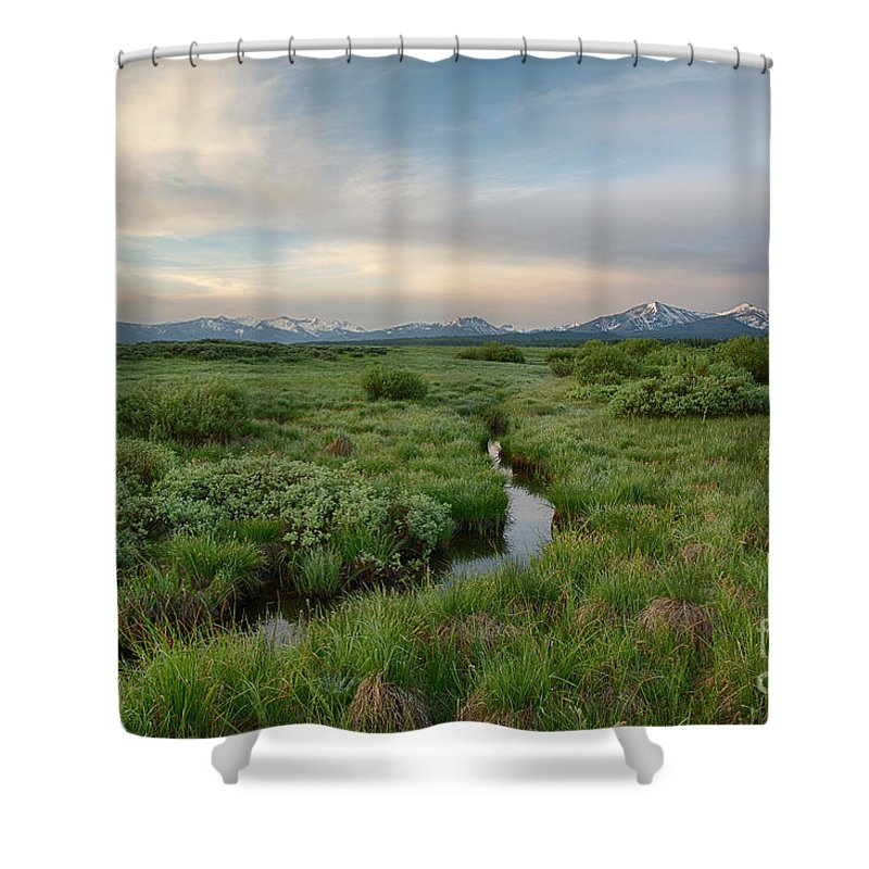 Boulder Mountains Shower Curtain featuring the photograph Sawtooth Valley II by Idaho Scenic Images Linda Lantzy