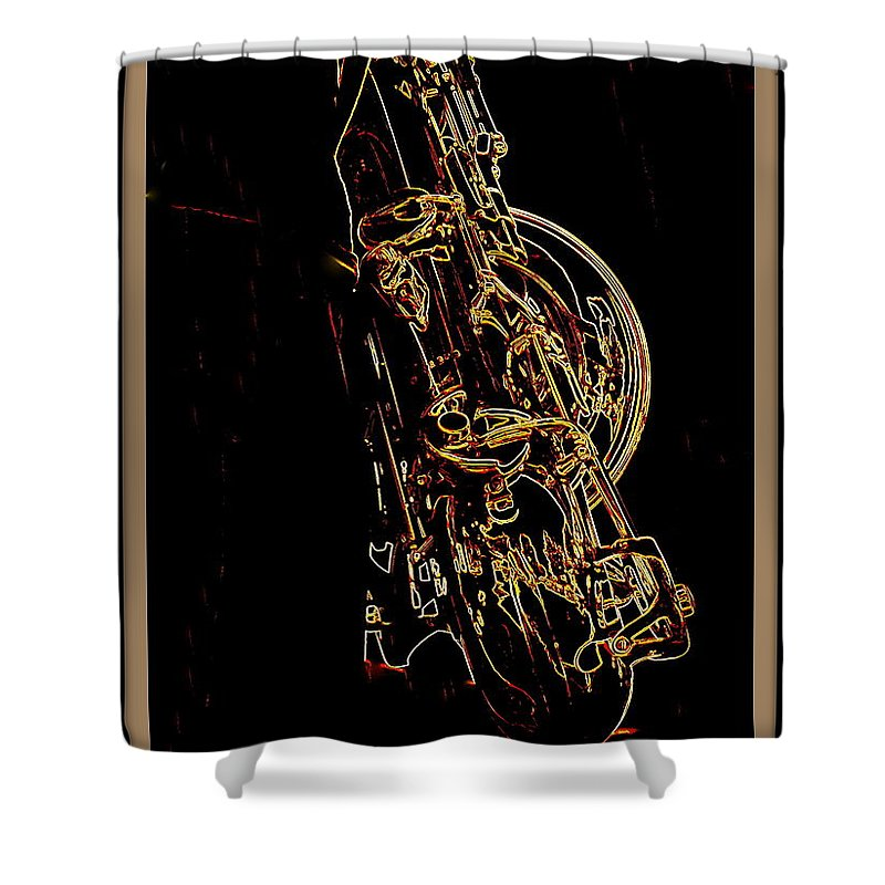 Saxophone Shower Curtain featuring the photograph Saxophone by Anita Goel