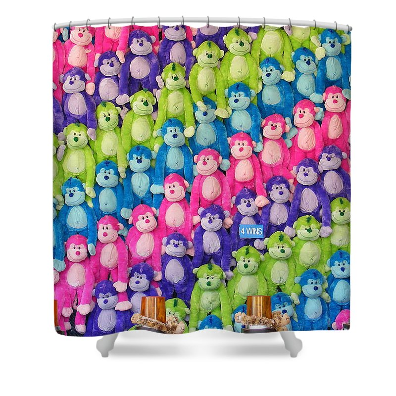 Say Hello To My Little Friends Shower Curtain featuring the photograph Say Hello To My Little Friends by Ed Smith