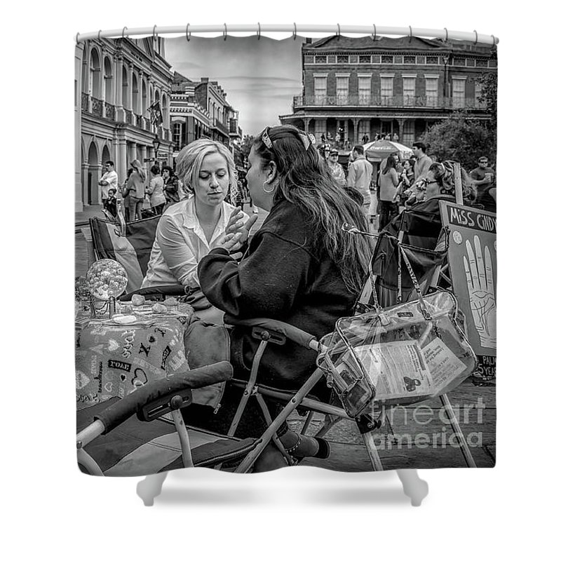 Street Photography Shower Curtain featuring the photograph Say It Isn't So - Nola by Kathleen K Parker
