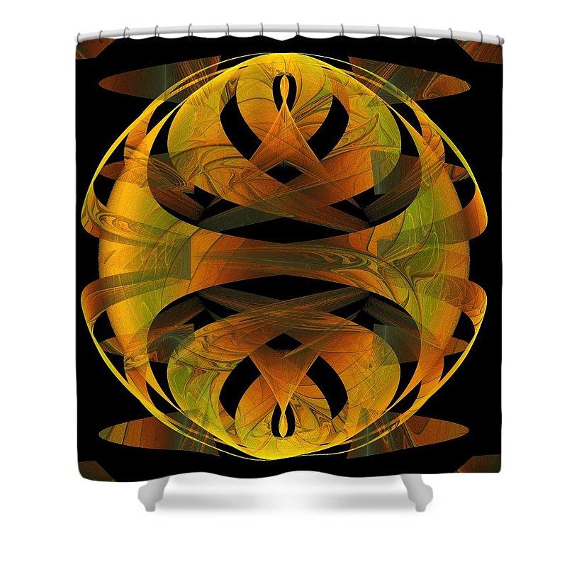 Digital Art Shower Curtain featuring the digital art Scarab by Amanda Moore