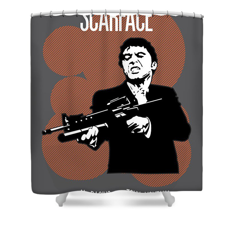 Scarface Shower Curtain Featuring The Painting Poster Tony Montana Print Quote