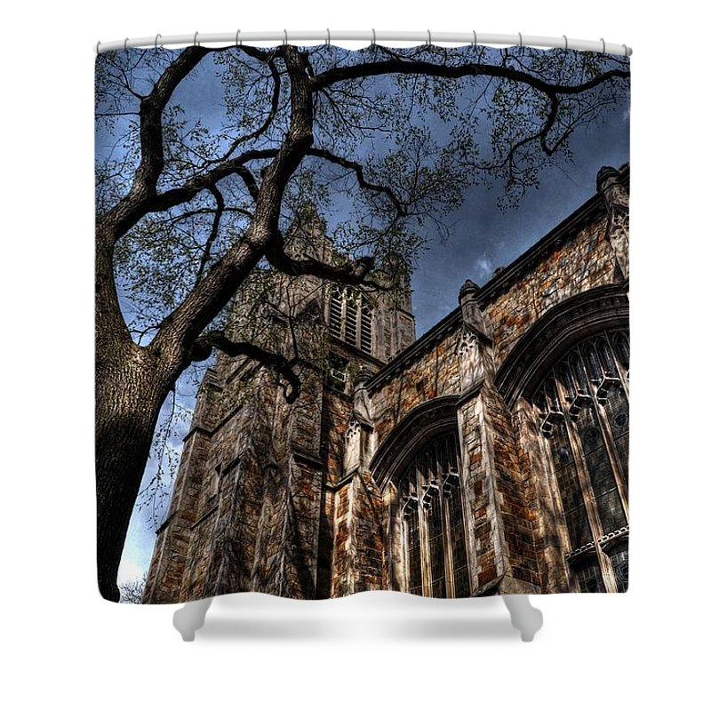 Ann Arbor Shower Curtain featuring the photograph Scary Tree by Chris Fleming