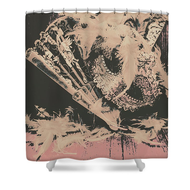 Wild West Shower Curtain featuring the photograph Scene From A Country And Western Cabaret by Jorgo Photography - Wall Art Gallery