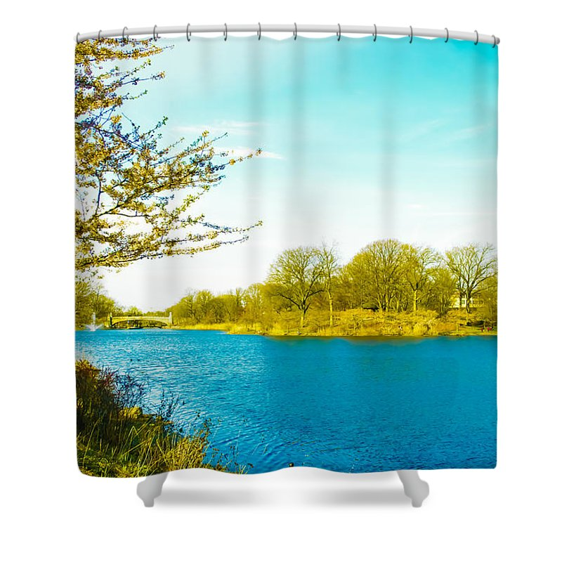 Scenic Shower Curtain featuring the photograph Scenic Branch Brook Park by Srinivasan Venkatarajan
