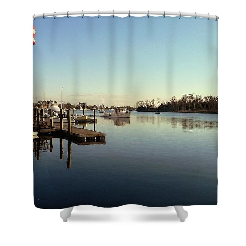 Scenic Shower Curtain featuring the photograph Scenic River 01 by Al Powell Photography USA