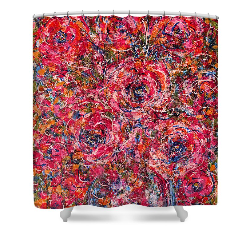 Flowers Shower Curtain featuring the painting Scented Pleasures by Natalie Holland
