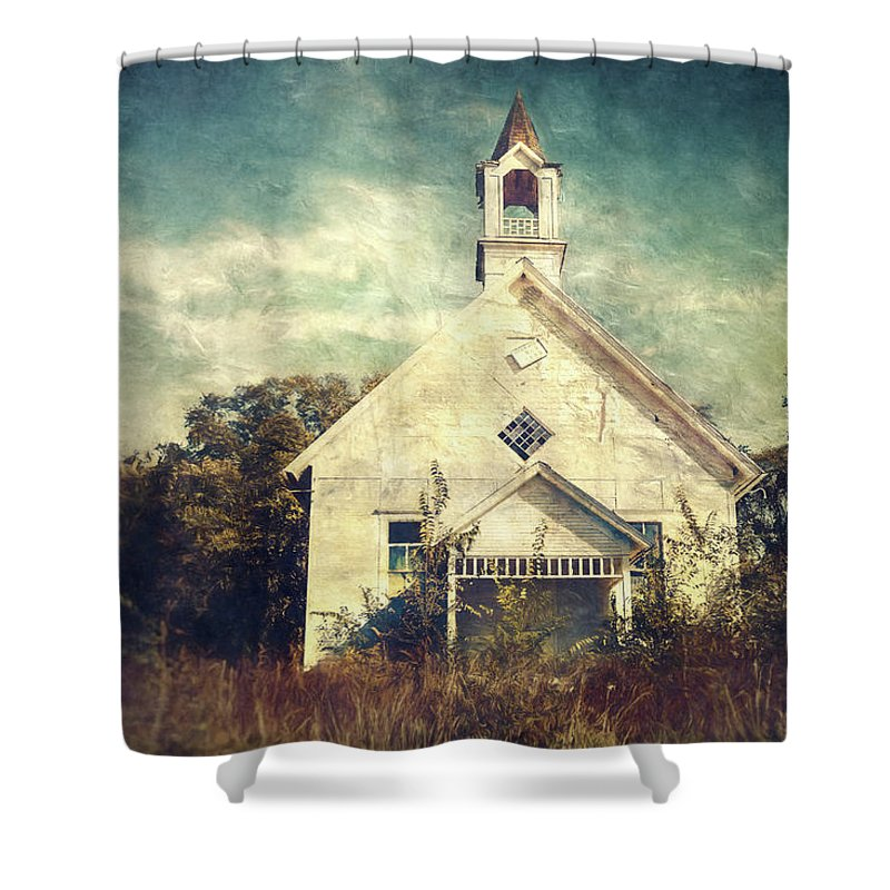 Abandoned Shower Curtain featuring the photograph Schoolhouse 1895 by Scott Norris