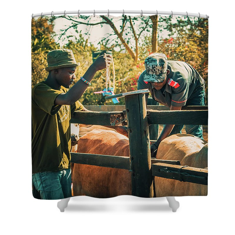 Kenya Shower Curtain featuring the photograph Science In Africa by Lu Yang
