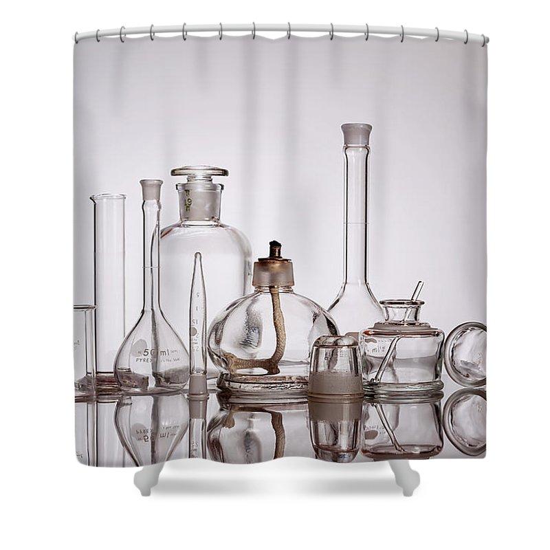 Beaker Shower Curtain featuring the photograph Scientific Glassware by Tom Mc Nemar