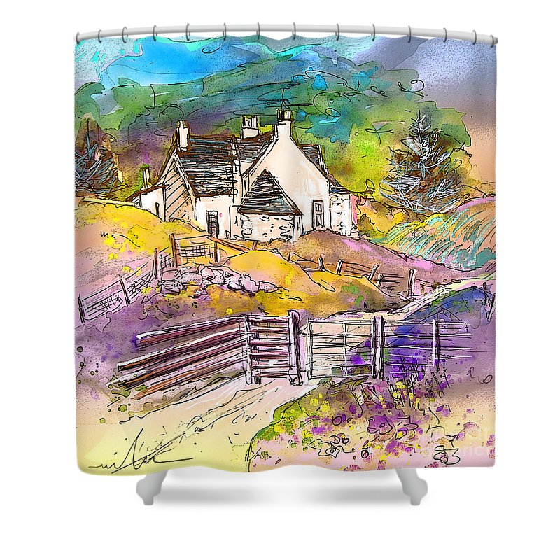 Scotland Paintings Shower Curtain featuring the painting Scotland 16 by Miki De Goodaboom