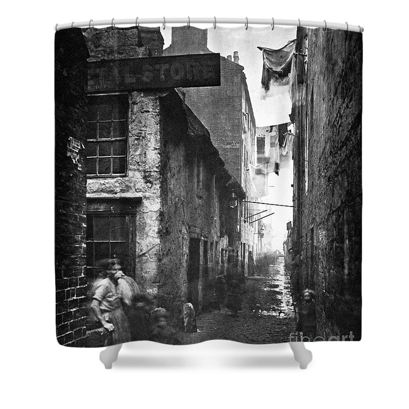 1868 Shower Curtain featuring the photograph Scotland: Glasgow, 1868 by Granger