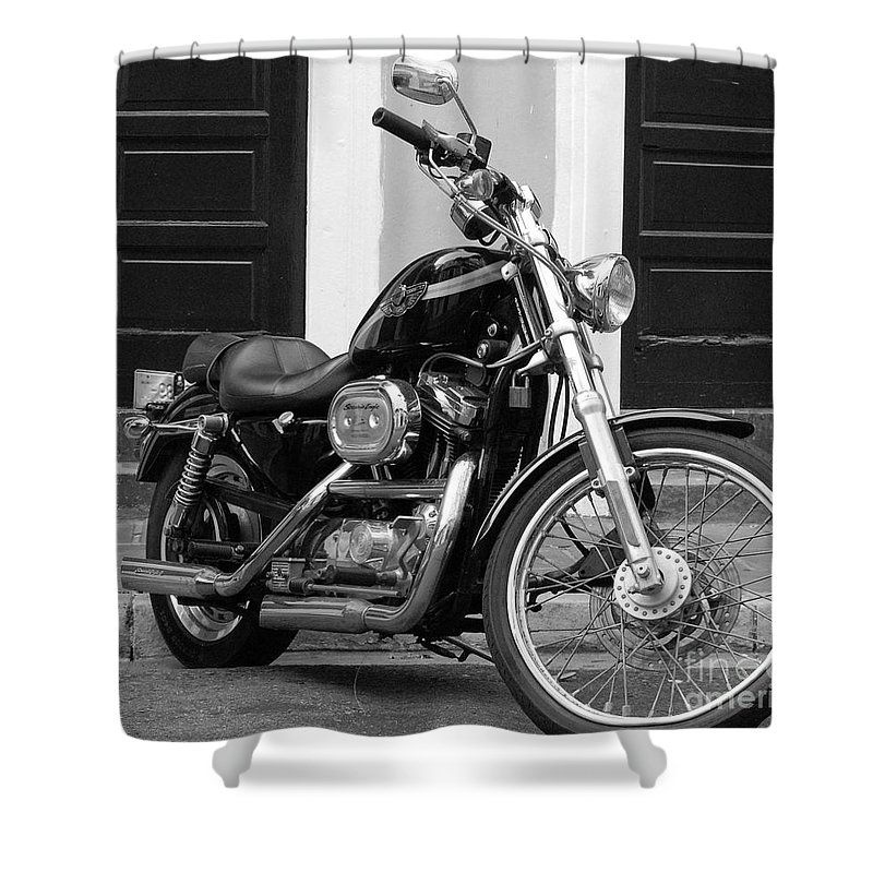 Motorcycle Shower Curtain featuring the photograph Screamin Eagle by Debbi Granruth