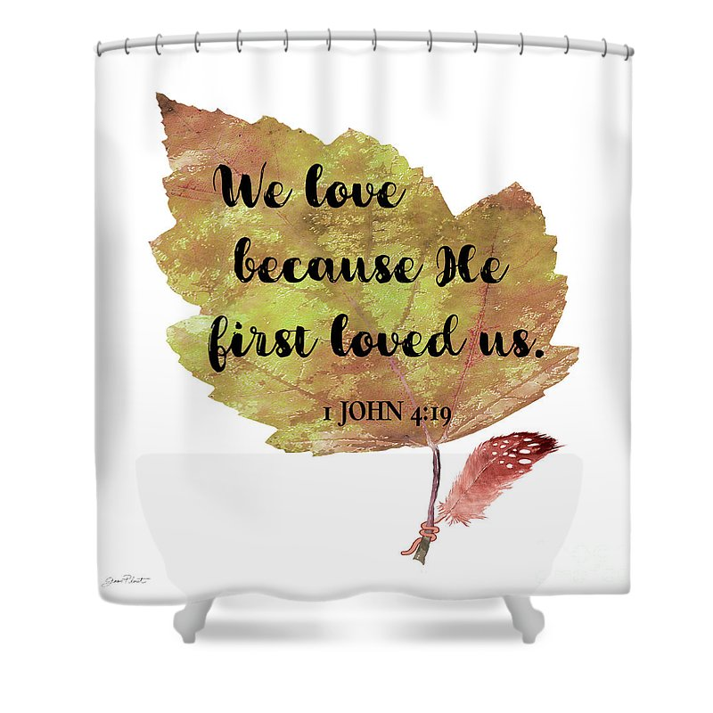 Scripture Leaf C Shower Curtain For Sale By Jean Plout