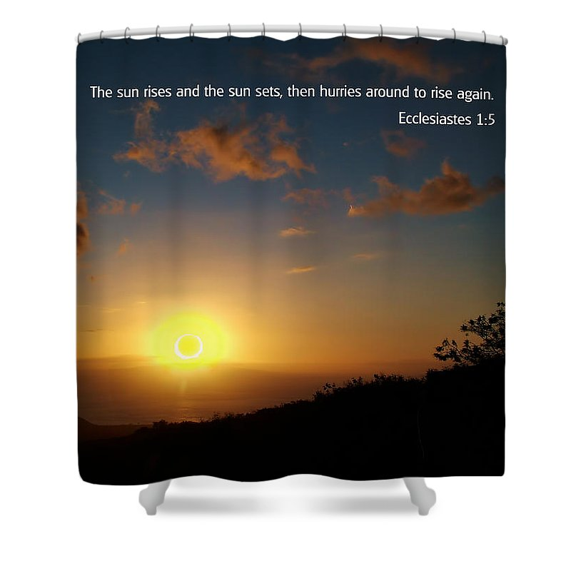 Bible Verses With Pictures Shower Curtain featuring the photograph Scriture And Picture Ephesians 1 5 by Ken Smith
