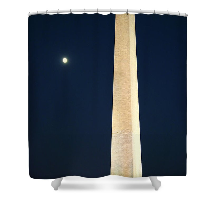 Moon Shower Curtain featuring the photograph Sculpture by Mitch Cat