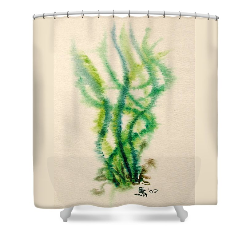 Sea Shower Curtain featuring the painting Sea Bed One by Dave Martsolf