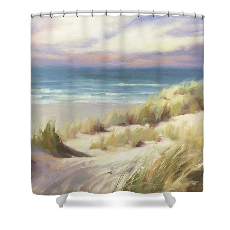 Ocean Shower Curtain featuring the painting Sea Breeze by Steve Henderson