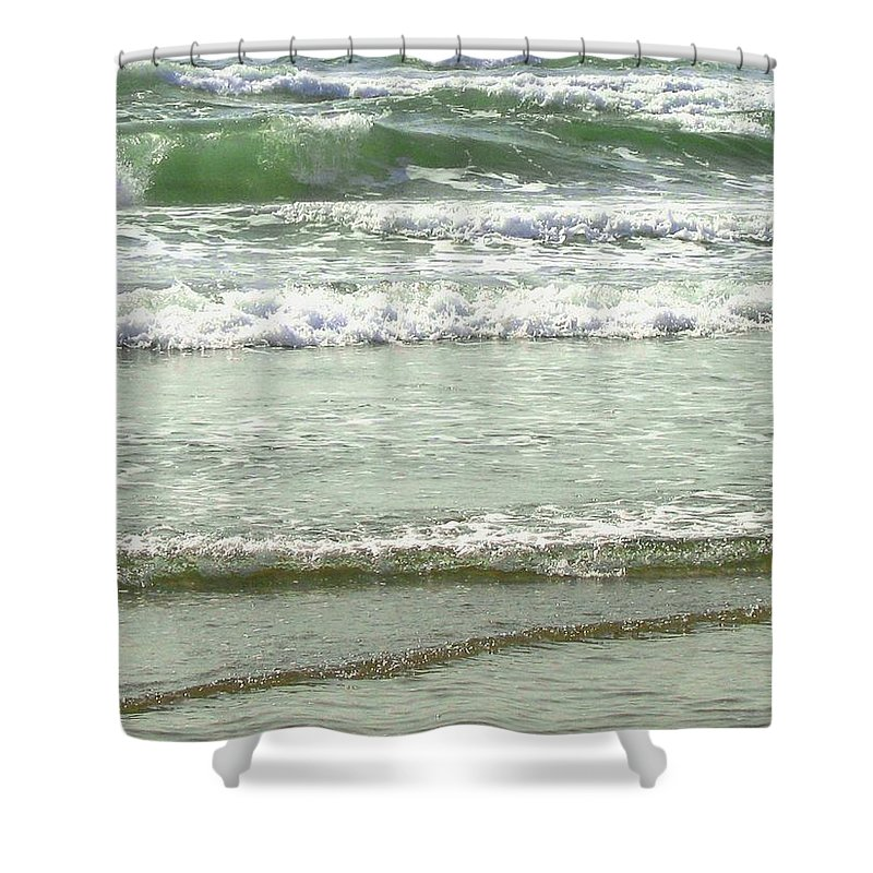 Sea Shower Curtain featuring the photograph Sea Green by Will Borden