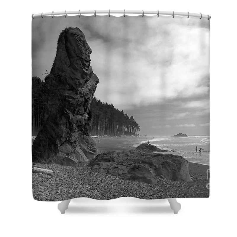 Sea Stack Shower Curtain featuring the photograph Sea Stack by David Lee Thompson