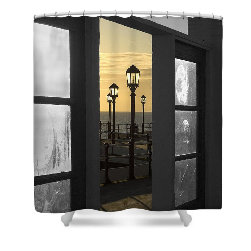 Sea Shower Curtain featuring the photograph Sea View by Hazy Apple