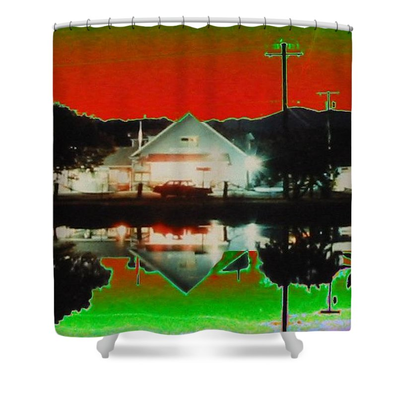 Seabeck Shower Curtain featuring the photograph Seabeck General Store by Tim Allen