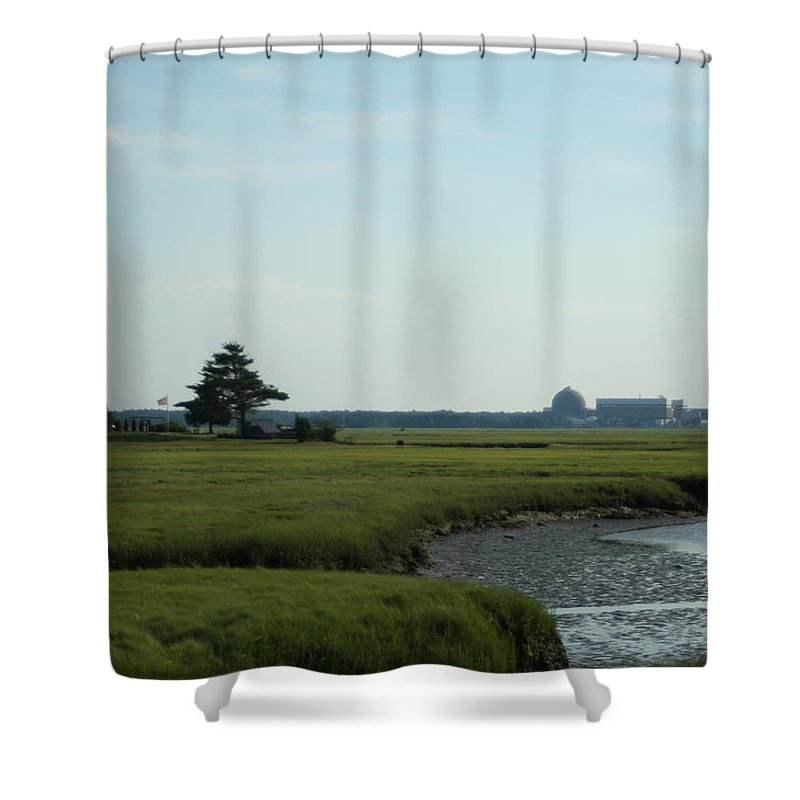 Photography Shower Curtain featuring the photograph Seabrook Beach Nh by Barbara S Nickerson