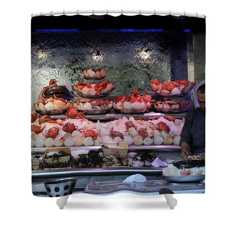 Seafood Shower Curtain featuring the photograph Seafood Restaurant 1 by Andrew Fare