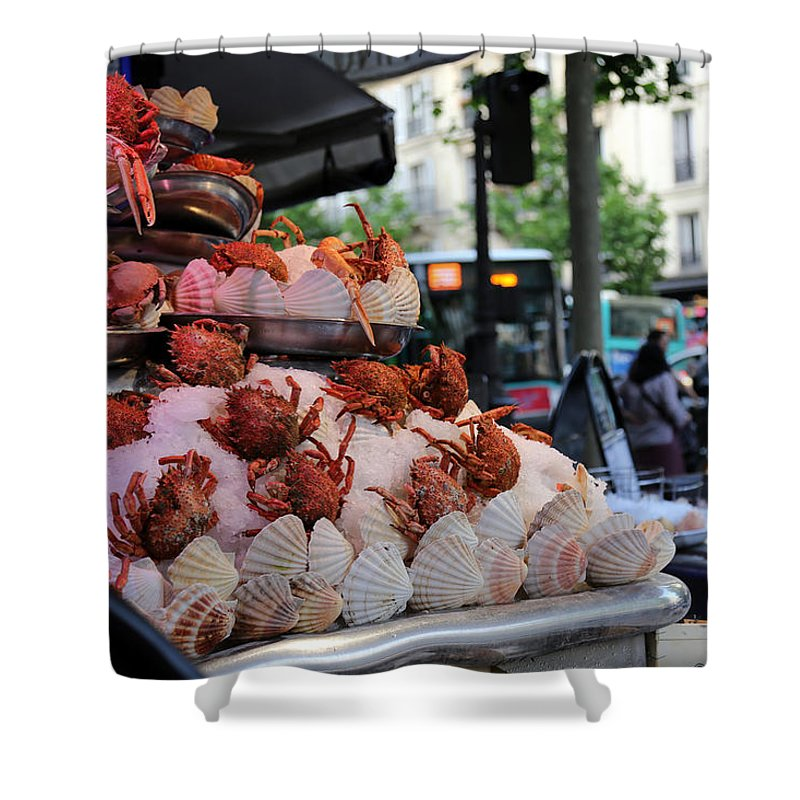 Seafood Shower Curtain featuring the photograph Seafood Restaurant 2 by Andrew Fare