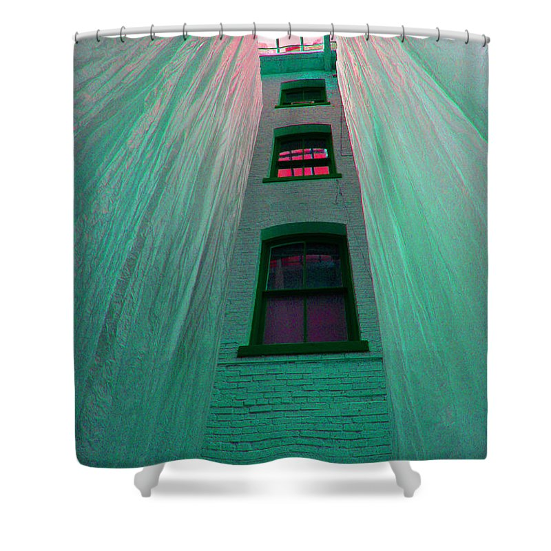 Architecture Shower Curtain featuring the photograph Sealed In Plastic by Deborah Napelitano