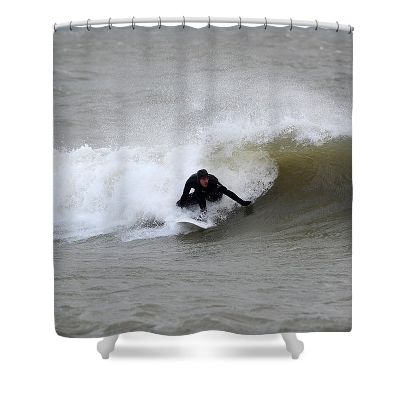 Shower Curtain featuring the photograph Sean 4 by Dave Johnson