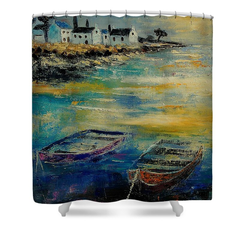 Sea Shower Curtain featuring the painting Seascape 5614569 by Pol Ledent