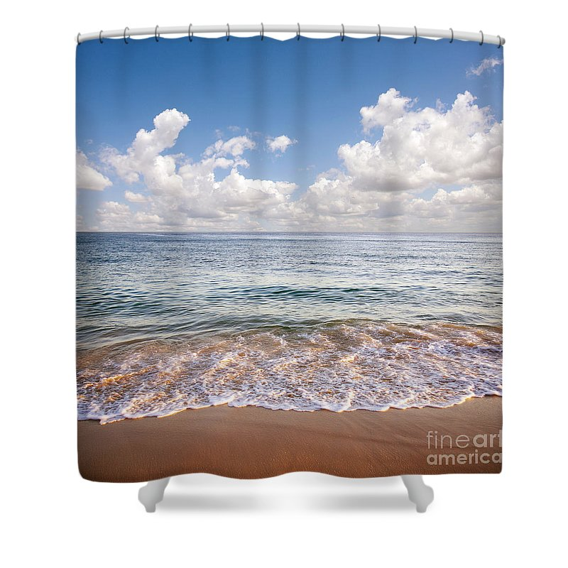 Background Shower Curtain featuring the photograph Seascape by Carlos Caetano