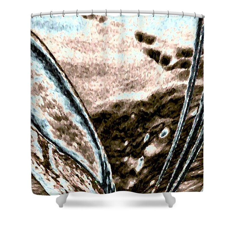 Seashell Shower Curtain featuring the digital art Seashell And Seaweed by Will Borden