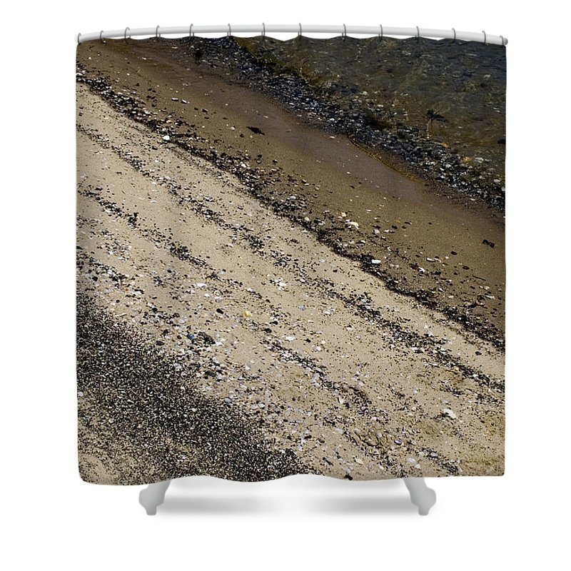 Photography Shower Curtain featuring the photograph Seashells On A Beach by Todd Gipstein