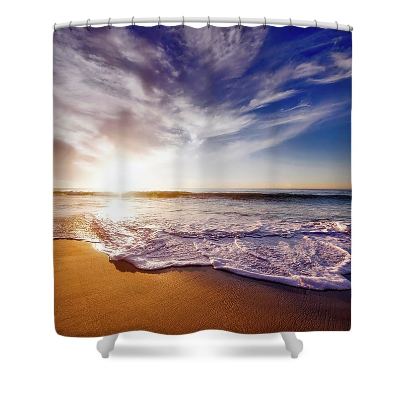 San Diego Shower Curtain featuring the photograph Seaside Sunset by Frank Mackenna