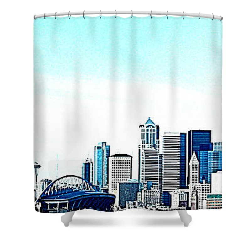 Seattle Shower Curtain featuring the photograph Seattle Blue by Nick Gustafson