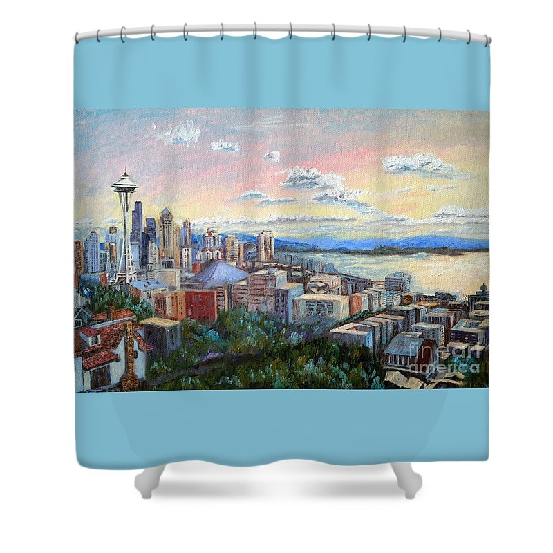 Seattle City View In Autumn Shower Curtain For Sale By Francesca Kee