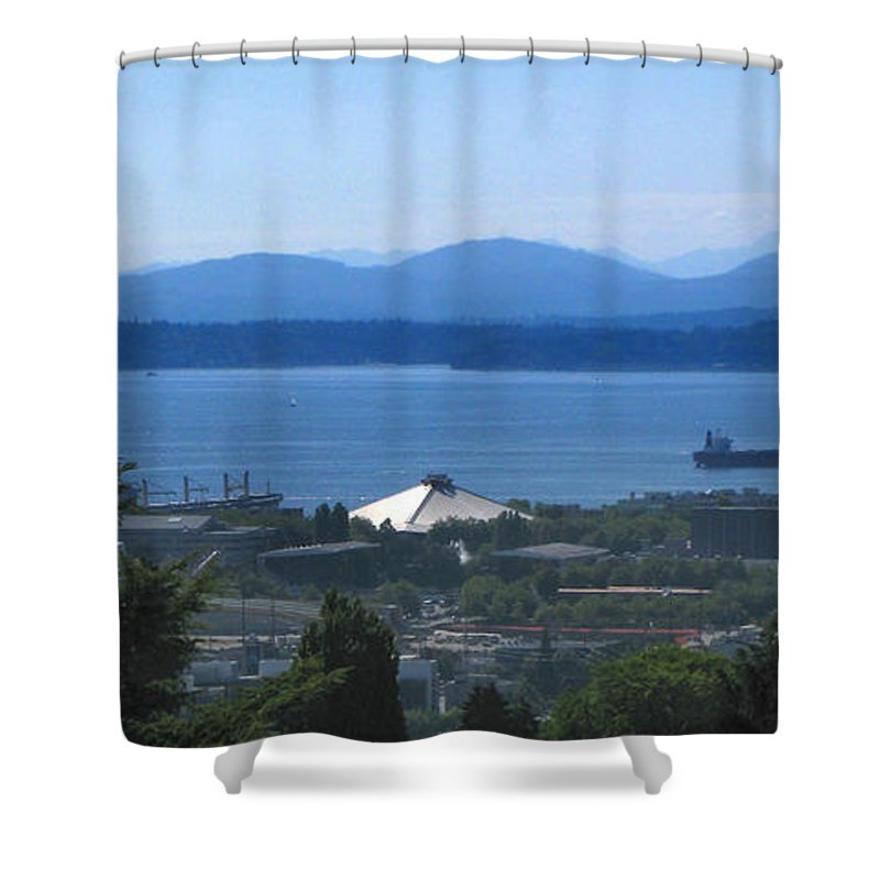 Seattle Shower Curtain featuring the photograph Seattle From Above by Jeffery Ball