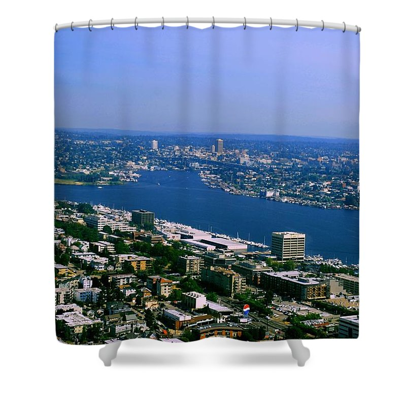 Seattle Shower Curtain featuring the photograph Seattle From Space Needle by Gary Wonning